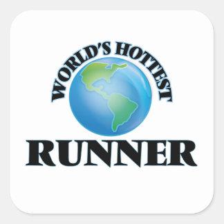 World's Hottest Runner Stickers