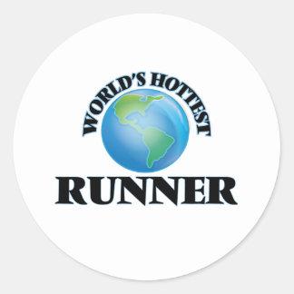 World's Hottest Runner Sticker