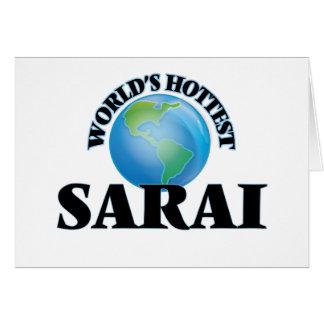 World's Hottest Sarai Stationery Note Card