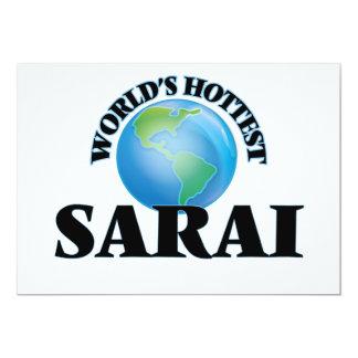 World's Hottest Sarai 5x7 Paper Invitation Card
