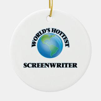 World's Hottest Screenwriter Christmas Tree Ornament