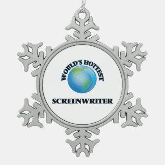 World's Hottest Screenwriter Ornament