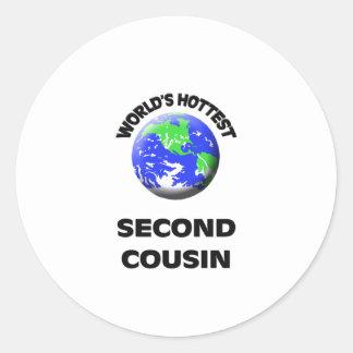 World's Hottest Second Cousin Classic Round Sticker