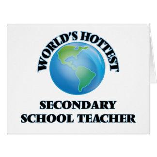 World's Hottest Secondary School Teacher Cards