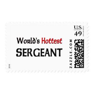Worlds Hottest Sergeant Postage Stamps