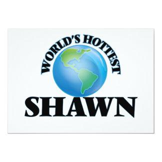 "World's Hottest Shawn 5"" X 7"" Invitation Card"