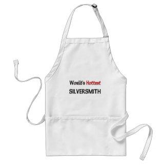 Worlds Hottest Silversmith Adult Apron
