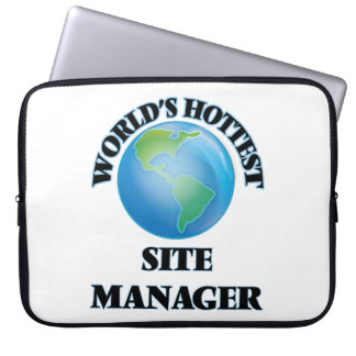 World's Hottest Site Manager Laptop Sleeve