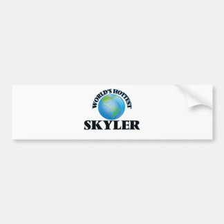 World's Hottest Skyler Bumper Stickers