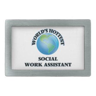 World's Hottest Social Work Assistant Rectangular Belt Buckle