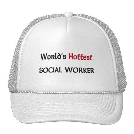 Worlds Hottest Social Worker Mesh Hat