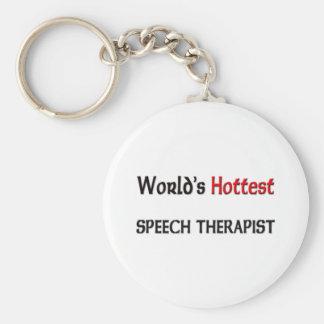 Worlds Hottest Speech Therapist Basic Round Button Keychain