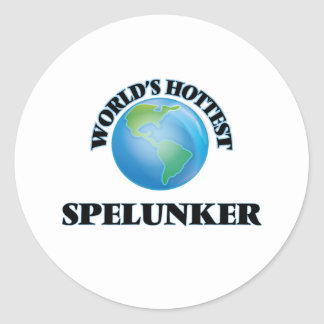 World's Hottest Spelunker Round Sticker