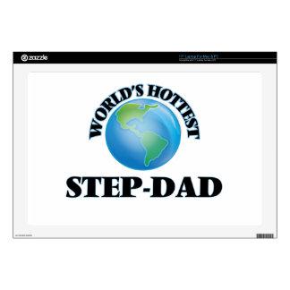 """World's Hottest Step-Dad 17"""" Laptop Skin"""