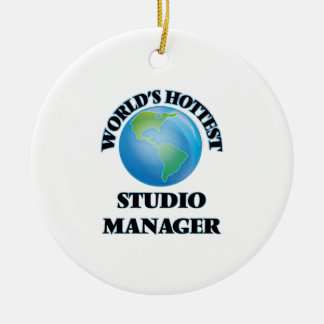 World's Hottest Studio Manager Ornament