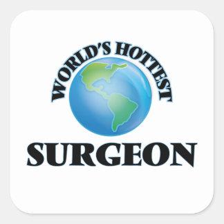 World's Hottest Surgeon Square Sticker