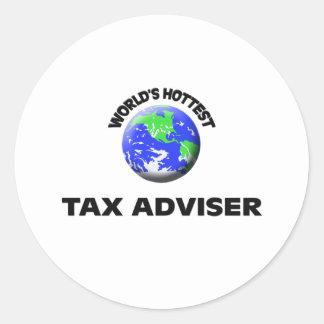 World's Hottest Tax Adviser Round Stickers