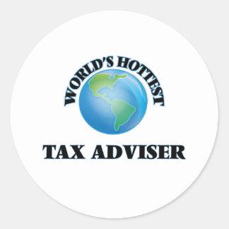 World's Hottest Tax Adviser Stickers