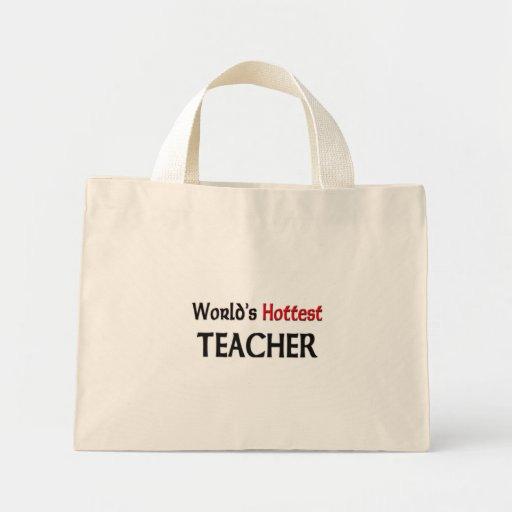 World's Hottest Teacher Mini Tote Bag