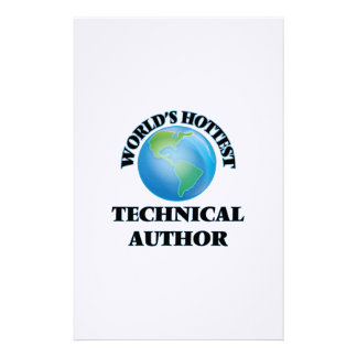 World's Hottest Technical Author Stationery