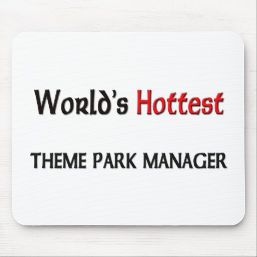 World's Hottest Theme Park Manager Mouse Mat