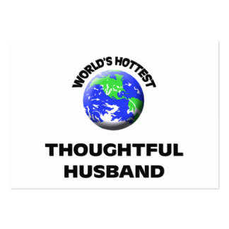 World's Hottest Thoughtful Husband Large Business Cards (Pack Of 100)