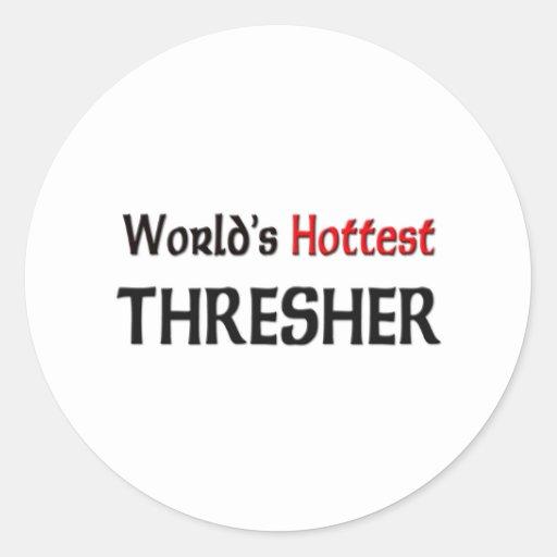 World's Hottest Thresher Classic Round Sticker