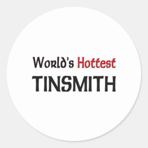 World's Hottest Tinsmith Classic Round Sticker