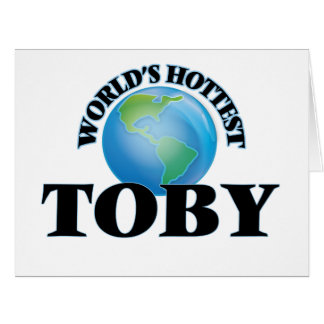 World's Hottest Toby Large Greeting Card