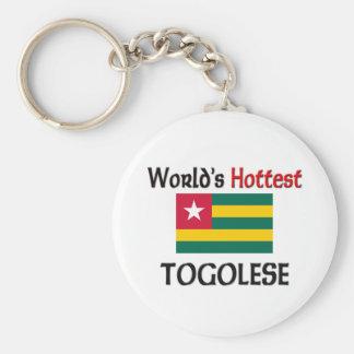 World's Hottest Togolese Basic Round Button Keychain