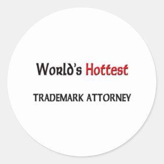 World's Hottest Trademark Attorney Classic Round Sticker