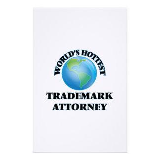 World's Hottest Trademark Attorney Custom Stationery