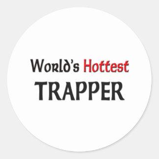 World's Hottest Trapper Classic Round Sticker
