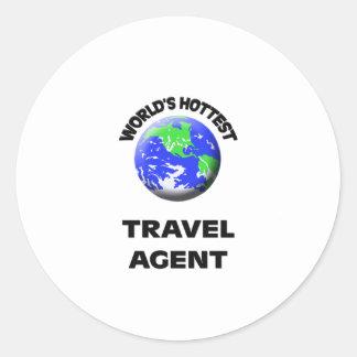 World's Hottest Travel Agent Sticker