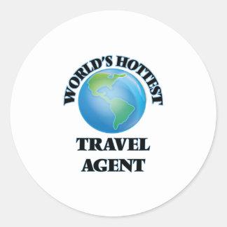 World's Hottest Travel Agent Round Stickers