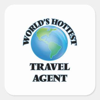 World's Hottest Travel Agent Square Sticker
