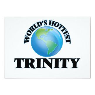 World's Hottest Trinity 5x7 Paper Invitation Card