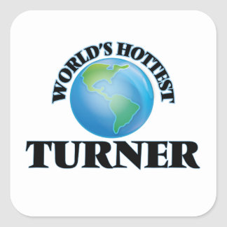 World's Hottest Turner Square Stickers