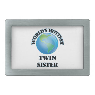 World's Hottest Twin Sister Rectangular Belt Buckles