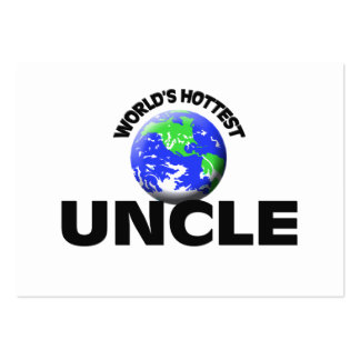 World's Hottest Uncle Business Card Templates