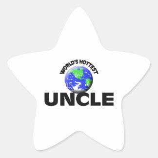 World's Hottest Uncle Star Sticker