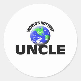 World's Hottest Uncle Classic Round Sticker