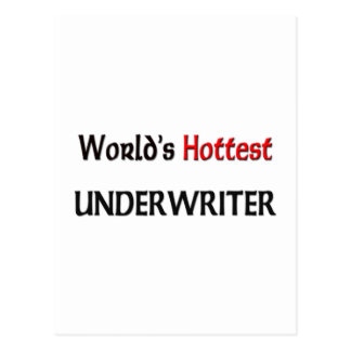 World's Hottest Underwriter Postcard