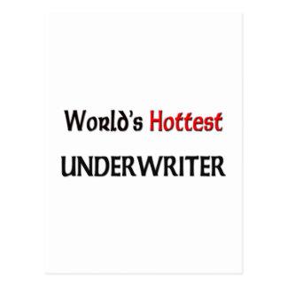 World's Hottest Underwriter Postcard