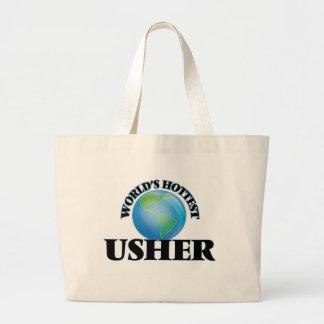 World's Hottest Usher Tote Bag