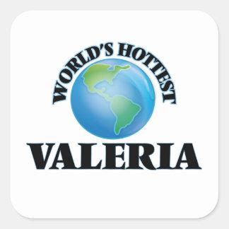 World's Hottest Valeria Square Sticker