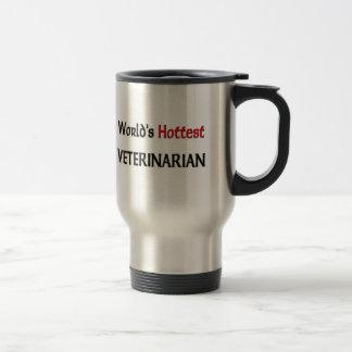 World's Hottest Veterinarian 15 Oz Stainless Steel Travel Mug
