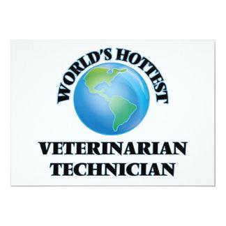 World's Hottest Veterinarian Technician 5x7 Paper Invitation Card