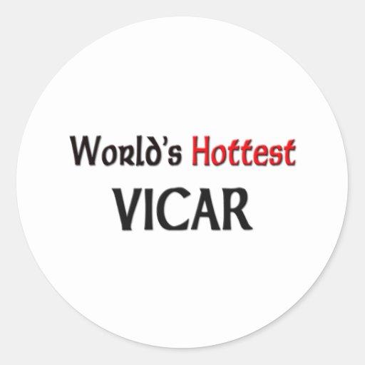 World's Hottest Vicar Classic Round Sticker
