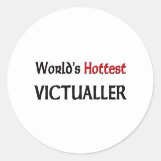 World's Hottest Victualler Round Sticker